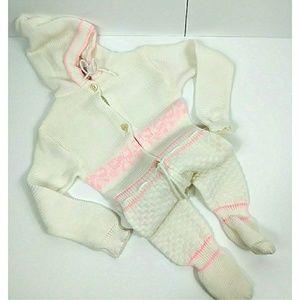Winter Knit Onesie Girls Anastasia Made in Israel